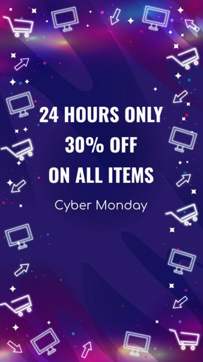 Cyber Monday Instagram Story Template for Special Offers 1792