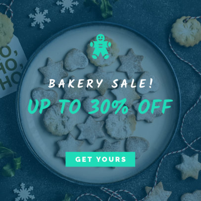 Banner Maker for a Christmas Bakery Sale 779h-1839