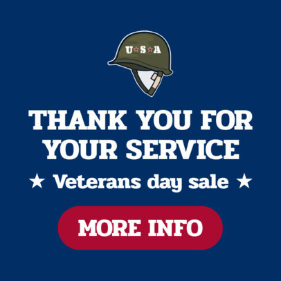 Banner Maker for a Huge Veterans Day Sale 1806c