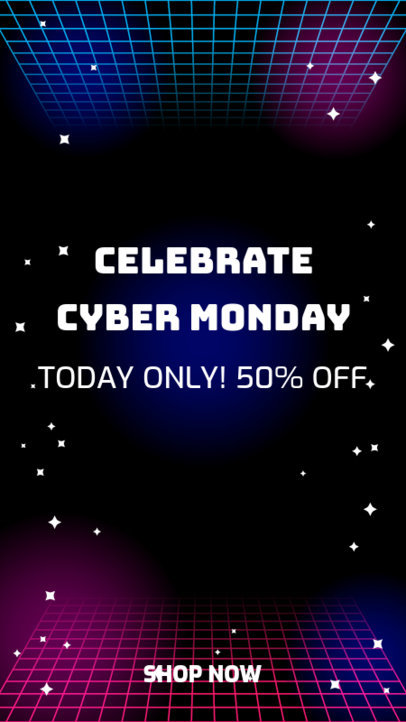 Cyber Monday Instagram Story Template for Tech Deals 1792c