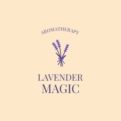 Alternative Medicine Logo Maker Featuring a Lavender Clipart 2580