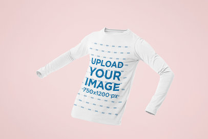 Ghosted Mockup of a Men's Long Sleeve T-Shirt 29369