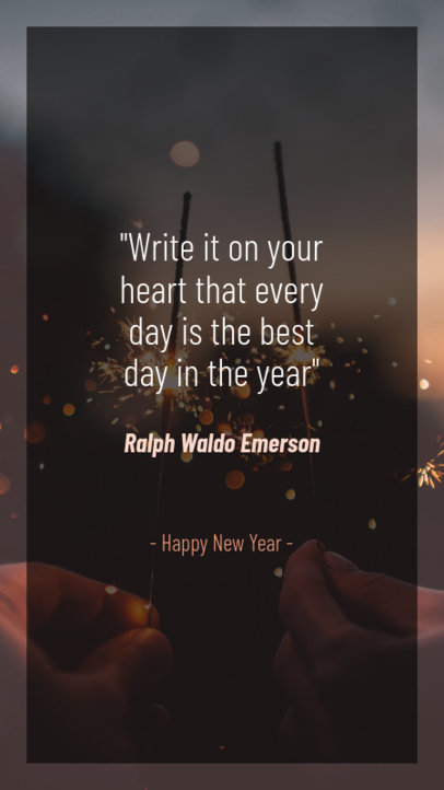 New Year's Instagram Story Maker with an Optimistic Message 597q-1831