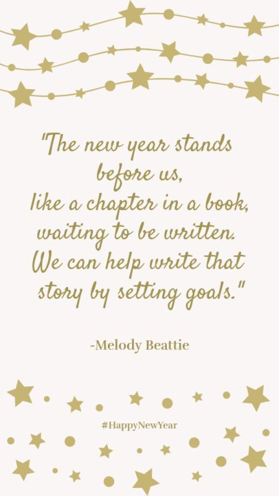 Quote Instagram Story Template for a New Year's Message 1830b