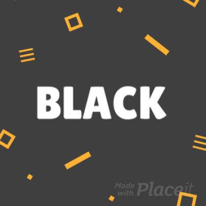 Instagram Post Video Maker for a Black Friday Sale 1538-370