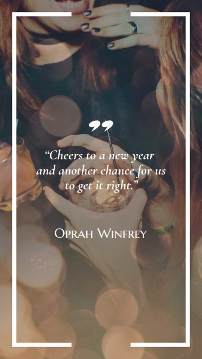 Inspiring Quote Instagram Story Maker for a New Year's Celebration 597v 1829