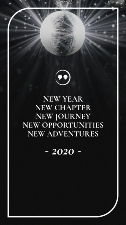 Instagram Story Maker Featuring a New Year Inspiring Quote 597w 1829