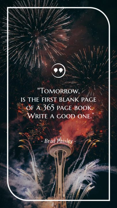 New Year Quote Instagram Story Maker 597r 1829