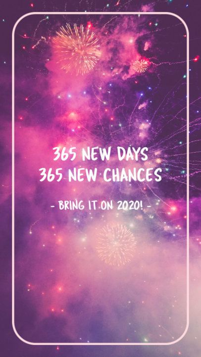 Quote Instagram Story Template to Receive the New Year 597y 1829