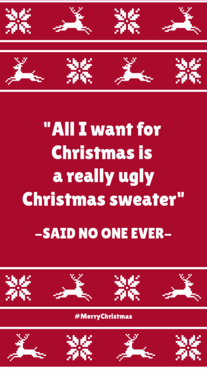 Instagram Story Maker with an Ugly Sweater Quote 1043j-1827