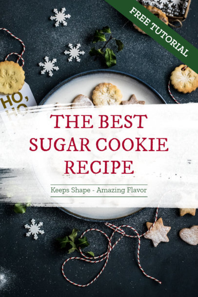 Pinterest Pin Template for a Christmas Cookies Recipe 663j 1836