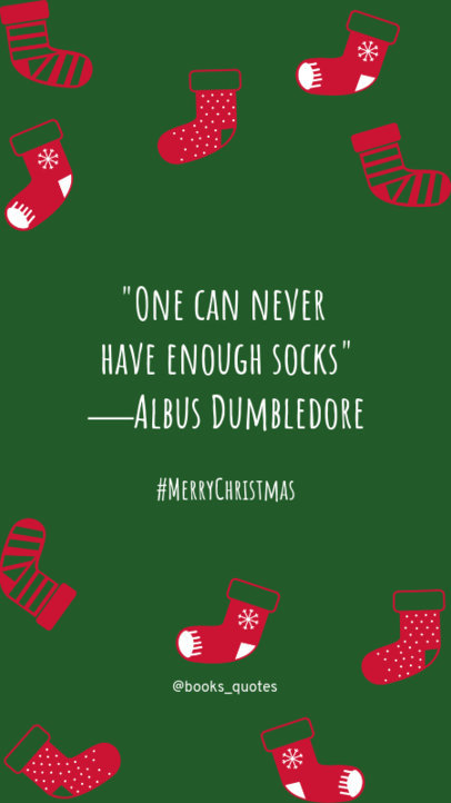 Xmas Insta Story Maker with a Quote Inspired in Harry Potter 1043m-1827