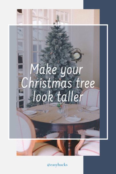 Pinterest Pin Template for Christmas Trees DIY Ideas 1123f 1836