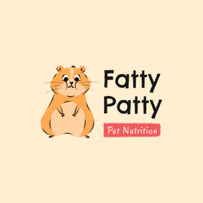 Veterinary Logo Maker Featuring a Funny Fat Hamster 2581g