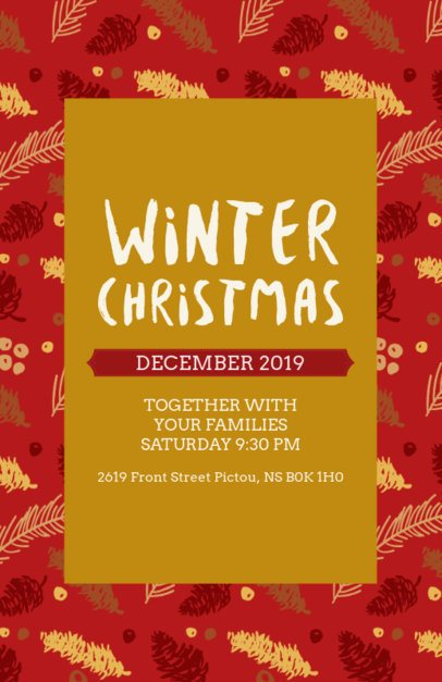 Christmas Party Flyer Maker with Festive Decorations 848f-1837