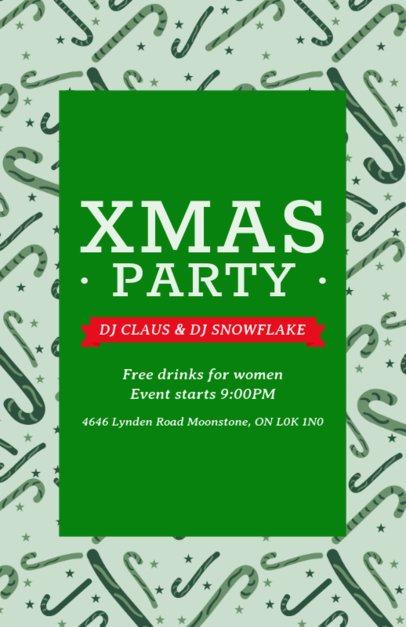 Joyful Flyer Maker for a Christmas Party 848hi-1837