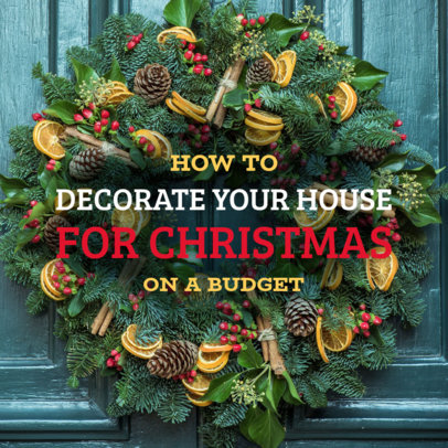 Facebook Post Design Template for a Xmas Decoration Guide 584l 1835