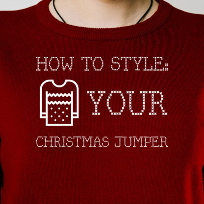 Facebook Post Maker for a How-To Style Your Christmas Jumper Guide 564t 1835