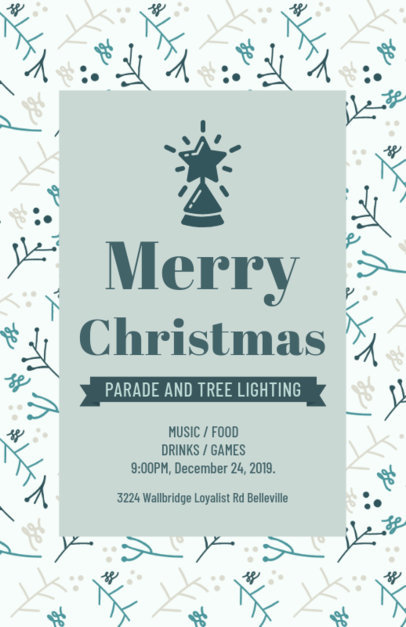 Online Flyer Maker for a Christmas Parade 848k-1837
