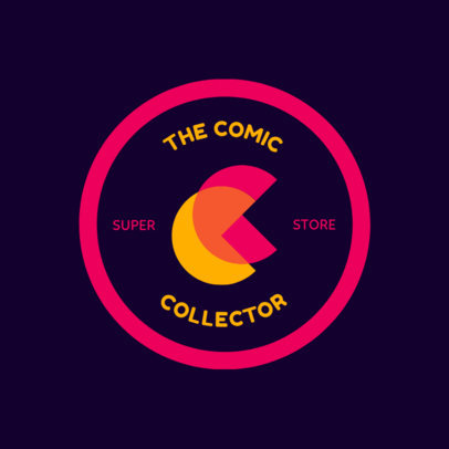 Logo Template for a Comic Store 1396f-2584