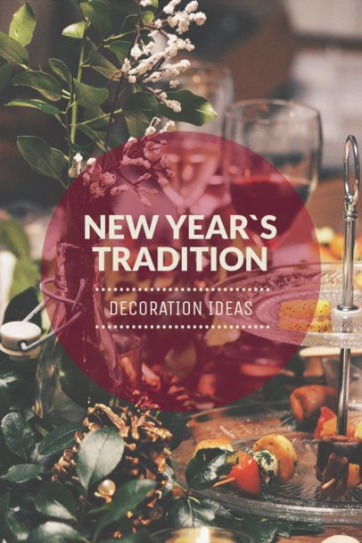 Pinterest Post Template for DIY New Year Decoration Ideas 651i - 1862