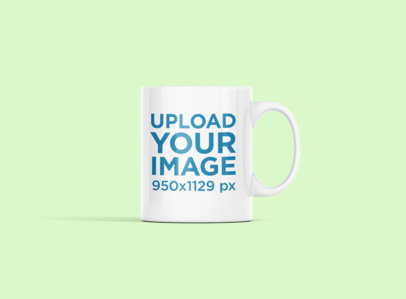 11 oz Coffee Mug Mockup Featuring a Customizable Background 694-el