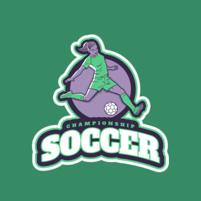 Sports Logo Maker for a Women's Soccer League 2601