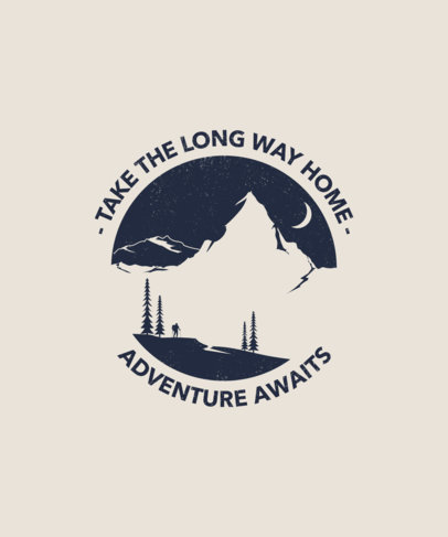 T-Shirt Design Maker with an Adventure Quote 1850