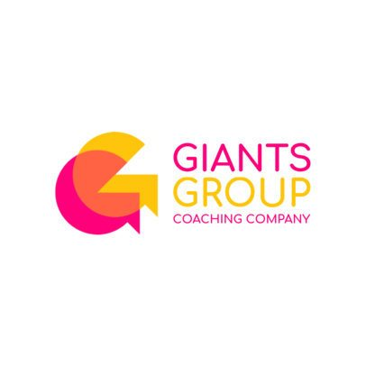 Coaching Company Logo Maker with Overlapping Icons 2551h-2584