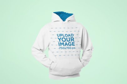 Mockup of a Ghosted Pullover Hoodie in a Casual Position 29359