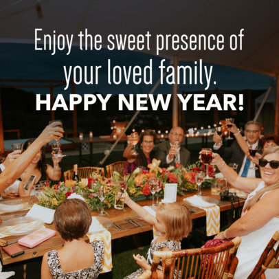 New Year Social Media Post Template with a Festive Image 563y-1861