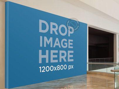 Horizontal Banner Mockup at a Mall a10646