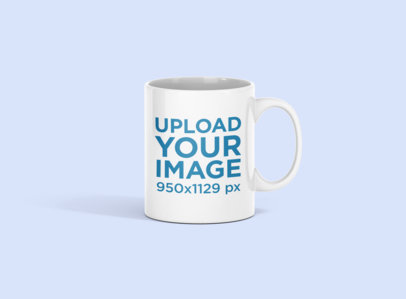 Mockup of an 11 oz Coffee Mug in a Minimalistic Setting 696-el