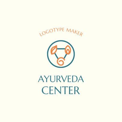 Alternative Medicine Logo Generator for an Ayurveda Center 2580a
