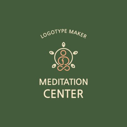 Minimal Online Logo Maker for a Meditation Center 2580e