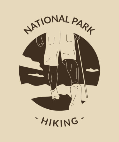T-Shirt Design Template For Outdoor Junkies 1847