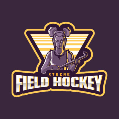 Logo Maker for a Field Hockey Women's Team 1560i-2601