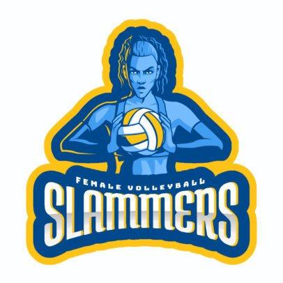 Volleyball Logo Maker Online Logo Maker Placeit