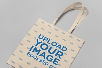 Tote Bag Mockup Laid Against a Flat Surface 29605