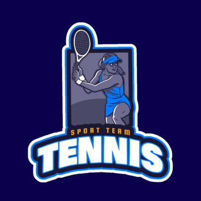 Logo Maker for a Women's Tennis Team 1600h-2601