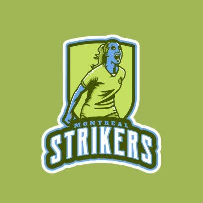 Soccer Team Logo Maker Featuring a Fierce Woman 2601d