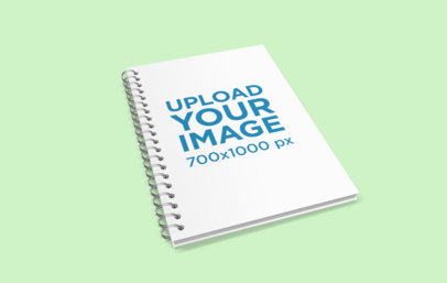 Spiral Notebook Mockup with a Plain Background 466-el