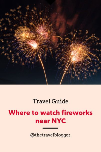 Travel Guide Pinterest Pin Generator with a Fireworks Image 1125f-1869