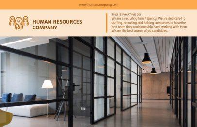Online Flyer Maker for Human Resources Orange Theme 229e