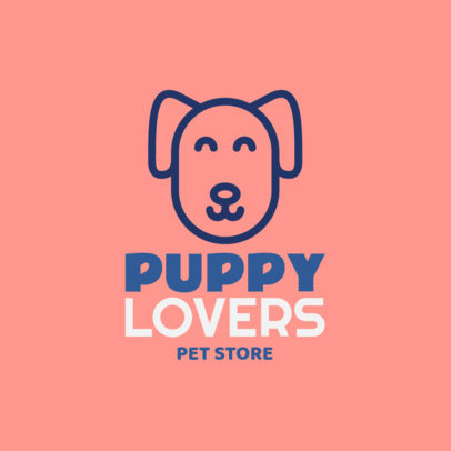 Logo Maker for a Puppies Store 2582i-26-el