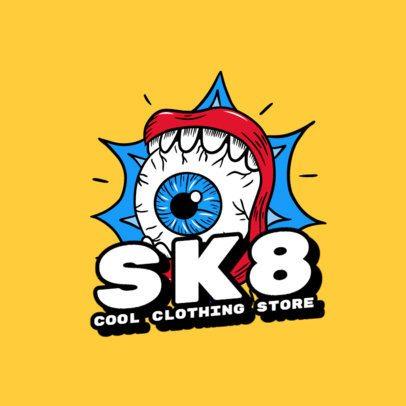 Psychedelic Logo Maker for a Skater Clothing Brand 2592e