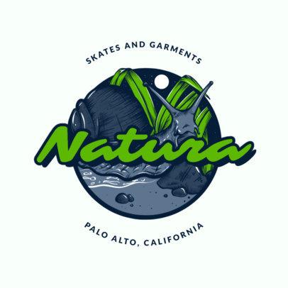 Logo Maker for a Skating Brand Featuring Santa Cruz Inspired Clipart 2591d