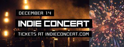 Indie Concert Facebook Cover Maker 1867e