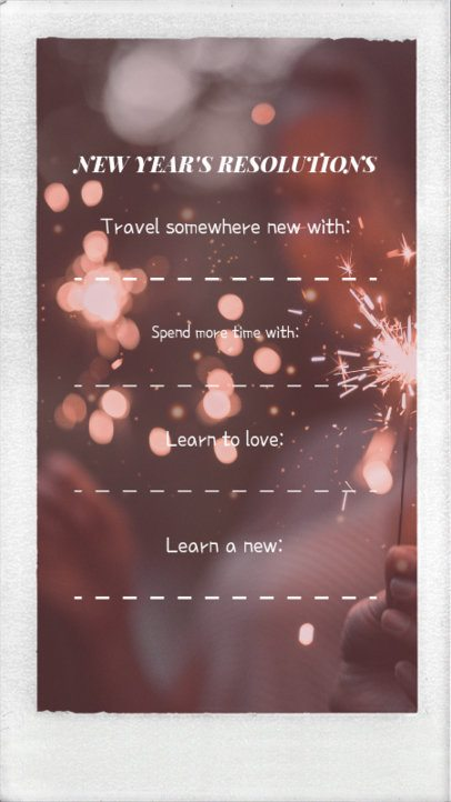 New Year Instagram Story Template for Next Year Resolutions 1856e