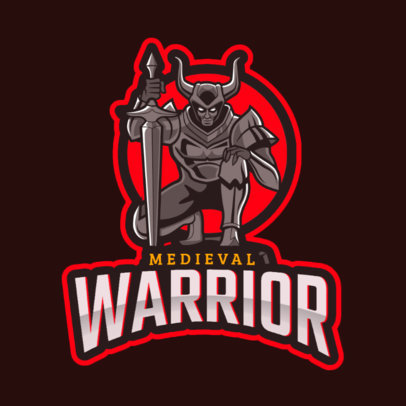 WoW-Themed Logo Maker with a Medieval Warrior Character 2613o